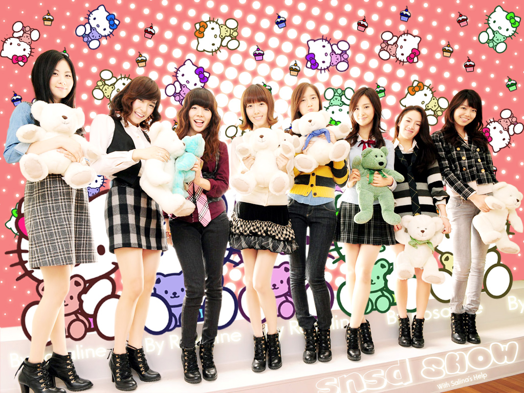 Snsd With Her Dollsjpg